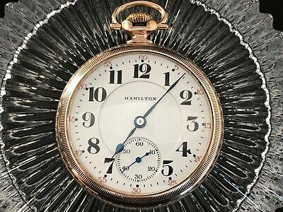 HAMILTON 992 Railroad Pocket Watch 21 Jewel, 16s RUNS