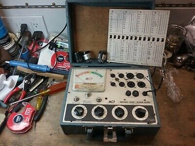 B K Dyna-quik Model 600 Tube Tester With Plug In Adapters