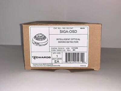 New Edwards Est Siga-osd Intelligent Optical Smoke Detector