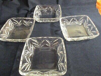 Vintage Set of 4 Fifth Avenue Portico Collectible Heavy Lead Crystal Salad Bowls 4 Portico Collection