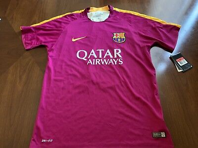 720bbbb78d2 Nike Barcelona Pre-Match Training Soccer Jersey Berry Size Large 686641-560