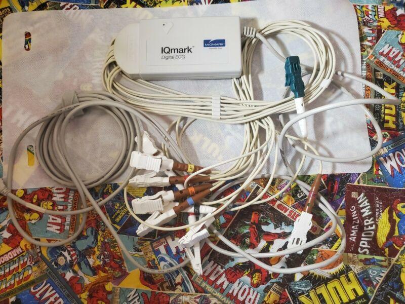 Midmark Diagnostics IQmark Digital ECG System USB Interface Unit W/Leads 8918