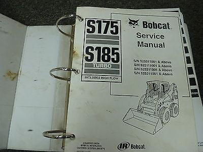 Bobcat Model S175 S185 Turbo Skid Steer Loader Shop Service Repair Manual Book