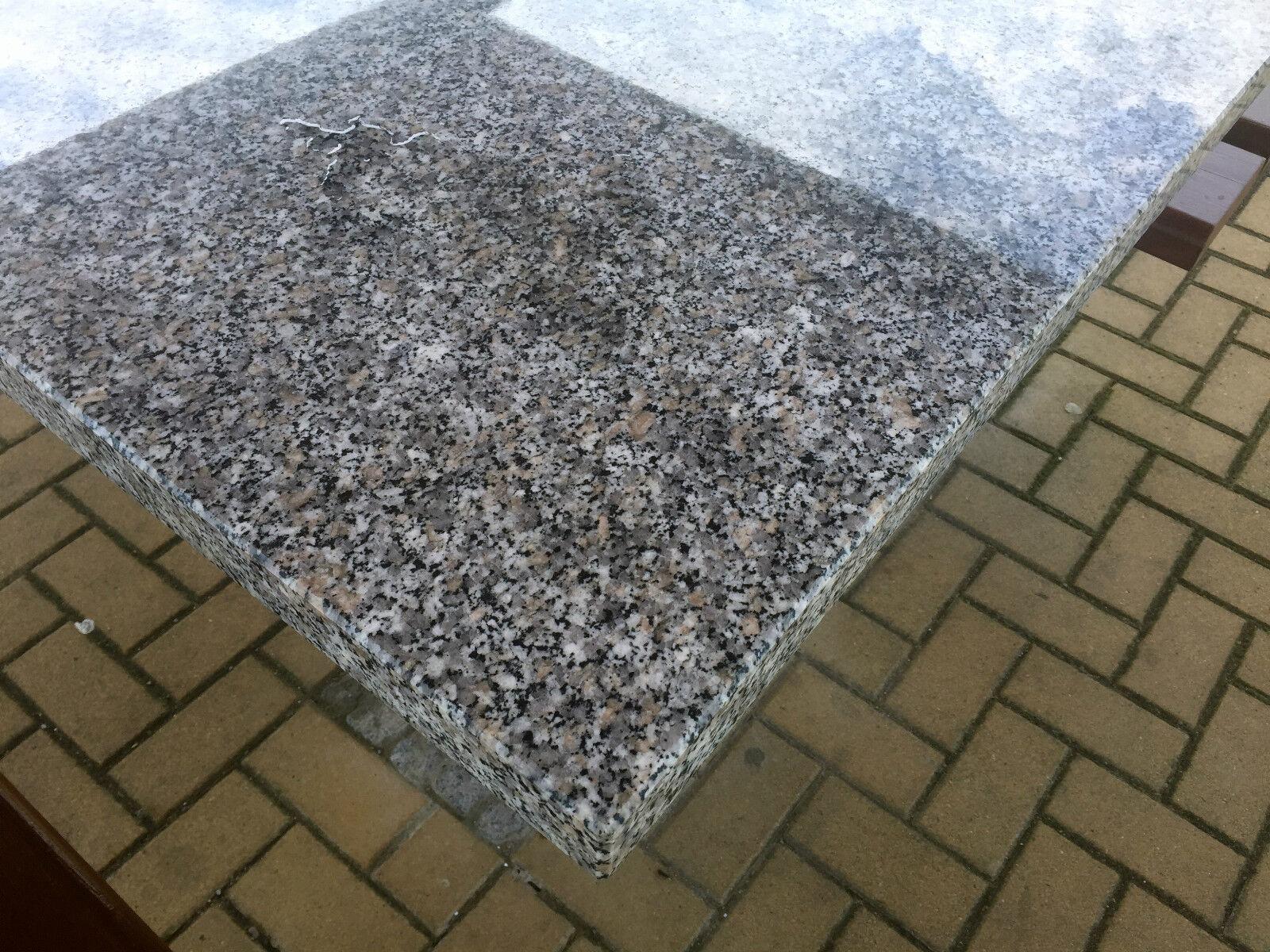 massive Tischplatte Granit Naturstein f. Gartentisch Esstisch ...