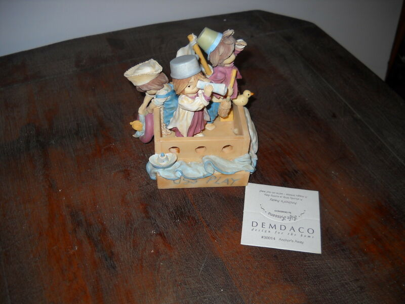 "Demdaco Life Lessons ""Anchor's Away"" Collectible Figurine 2001 NIB"