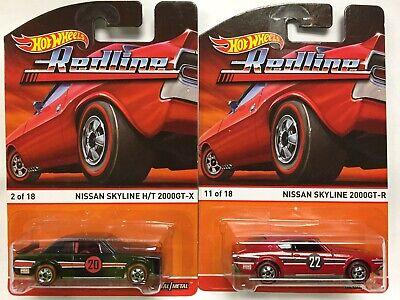 2015 Hot Wheels Heritage Redline Series Nissan Skyline H/T 2000GT-X & 2000GT-R