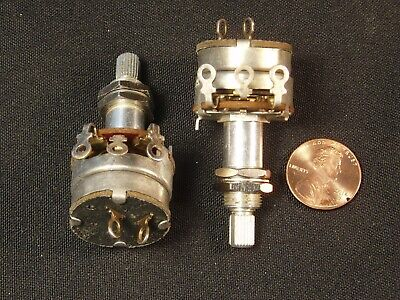 Qty 2 High-quality 25k Linear Pot Variable Resistor W Switch Potentiometer