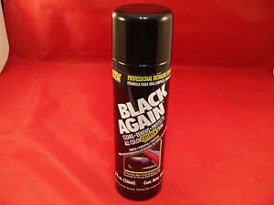 Blue Magic Na647 Black Again Exterior Trim Rubber Plastic Detailer Restorer 8oz