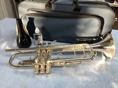 Pre-Owned King Silver Marching Trumpet 1117 -