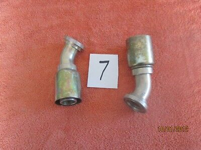 Lot 7 Weatherhead Crimp Hydraulic Hose Fittings 2- 20u-g50