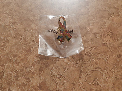 - Autism Awareness Ribbon  Puzzle Lapel Hat Pin Lead Free  ~ Qty offers considered