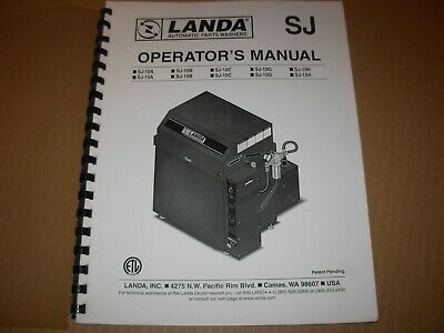 Landa Sj Series Pressure Washer Operators Manual