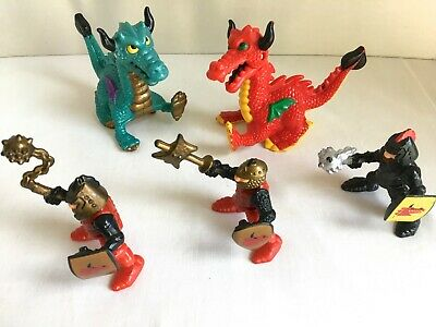 Fisher Price Great Adventures Castle Add-On Sets Dragon Duel 2 Dragons 3 Knights