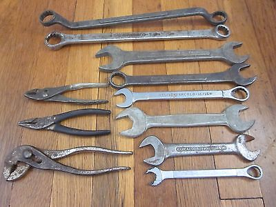 VERY RARE Vtg ALL BARCALO BUFFALO WWII era Wrench Pliers Tool Kit Set /11 no 723