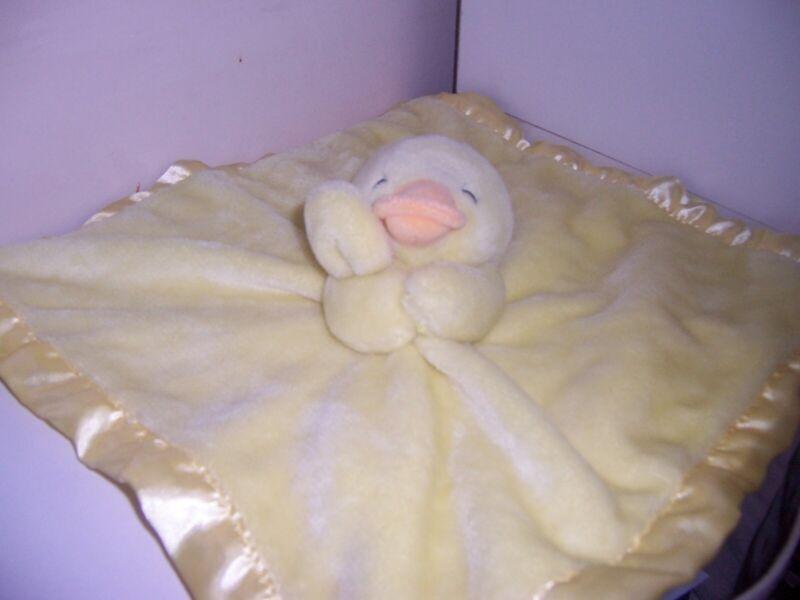 Carters Yellow duck   silky lovey blanket security blanket