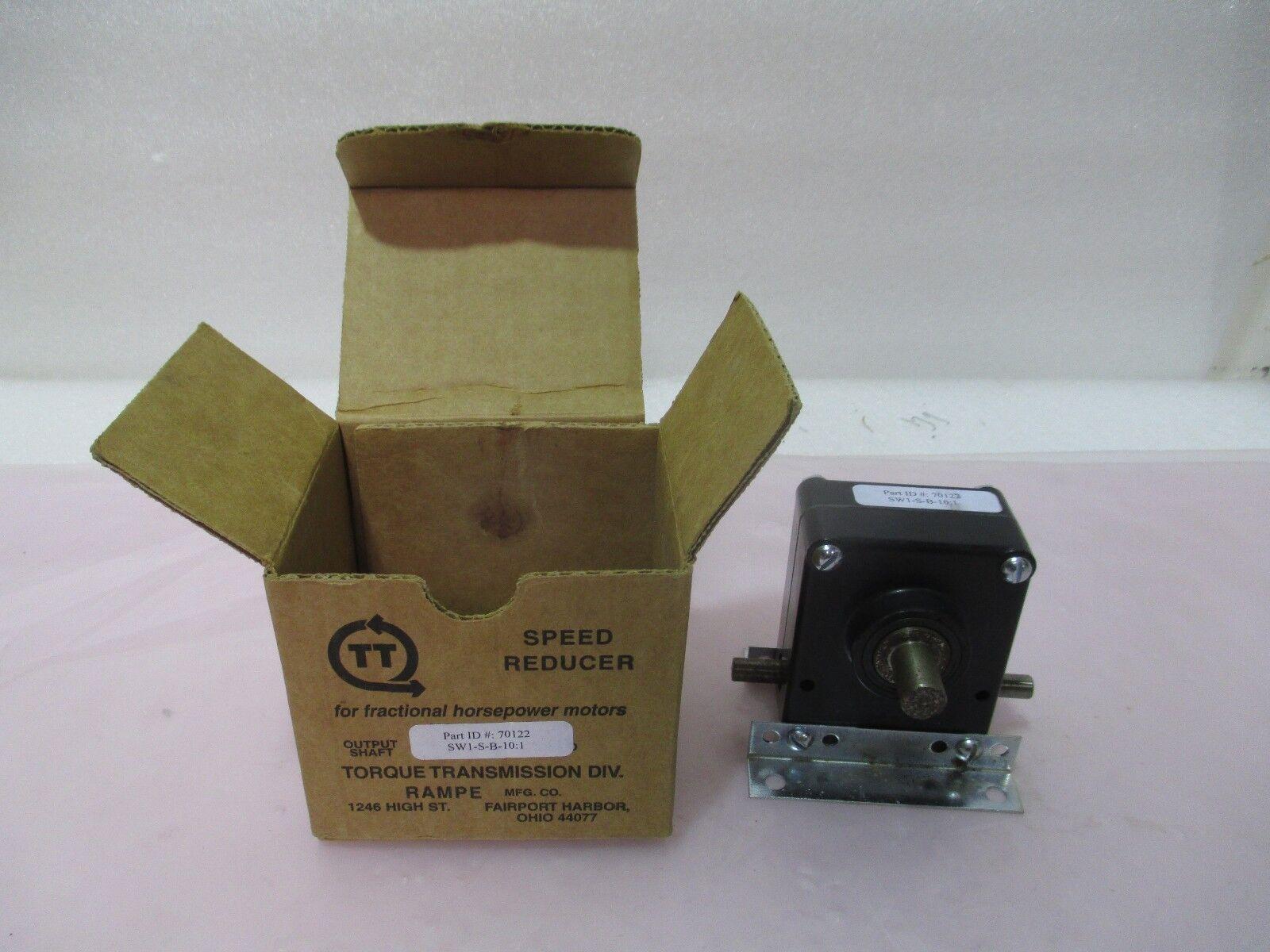 Torque Transmission 70122 Speed Reducer, Motor, SW1-S-B-10:1, 420966