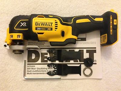 New Dewalt DCS355B 20V 20 Volt Max XR Brushless Cordless Oscillating Multi Tool