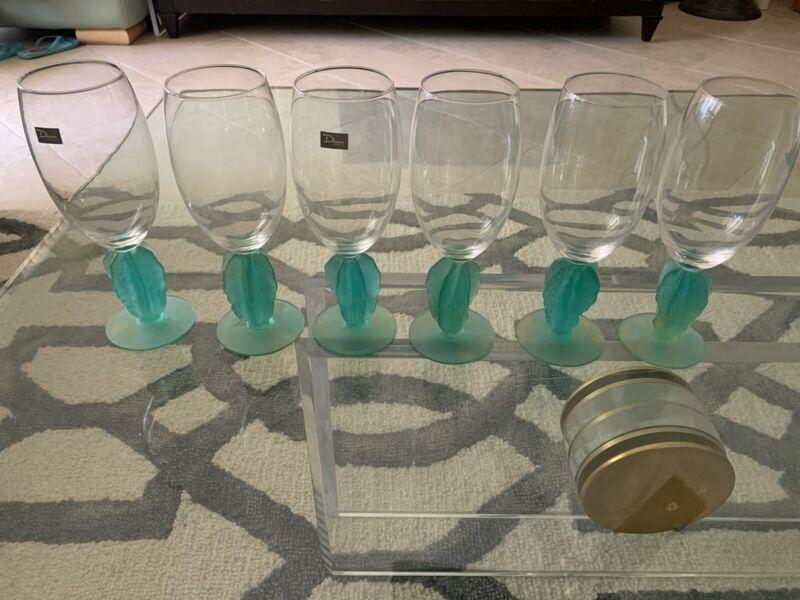 Daum France Hilton Mc Connico Glass Set