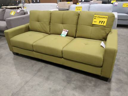 Fabric 3 Seat Sofa - Reduced to Clear