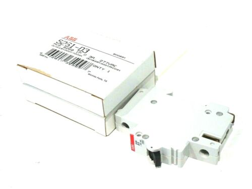 2 NEW ABB S261-D3 CIRCUIT BREAKERS S261D3