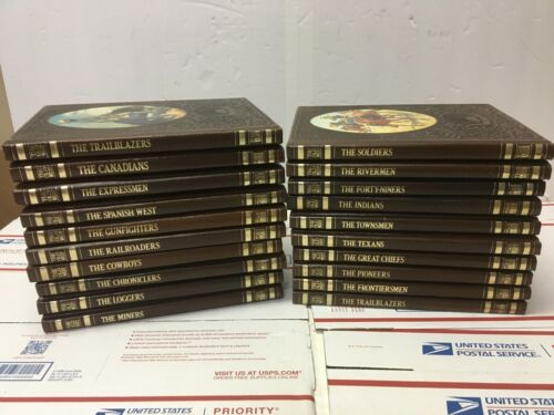 Time Life Books THE OLD WEST 20 of 26 Set Leather Vintage 1970