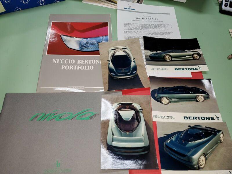 1991Bertone concept car press kit