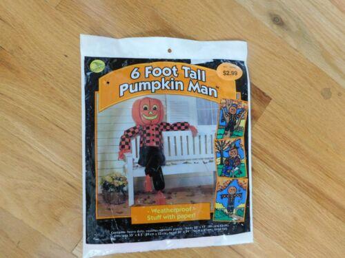 Sun Hill Pumpkin Man Plastic Yard Decoration Vintage