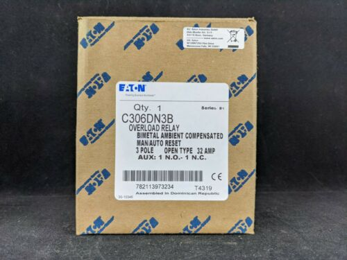 Eaton C306DN3B 32 AMP OVERLOAD RELAY