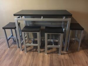 Modern Pub Style Table and four chairs