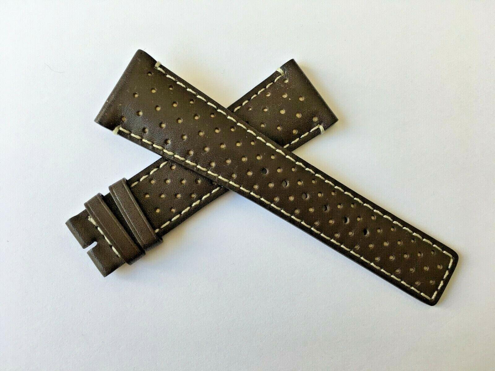 Original Gucci Leder Uhrenarmband 23mm YDA 16106 101M