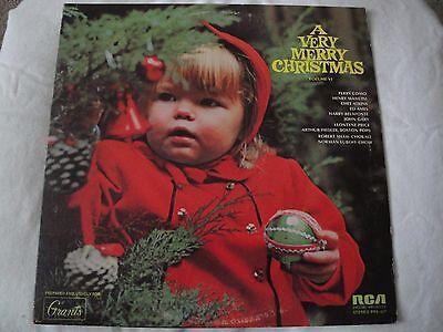 A VERY MERRY CHRISTMAS VOLUME VI VINYL LP 1972 RCA SPECIAL PROD. VARIOUS ARTISTS ()