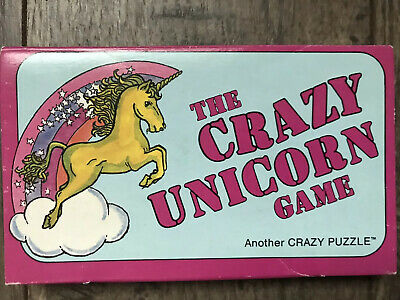 The Crazy Unicorn Game Crazy Puzzle Cars Price Stern Sloan Vintage Brain Teaser