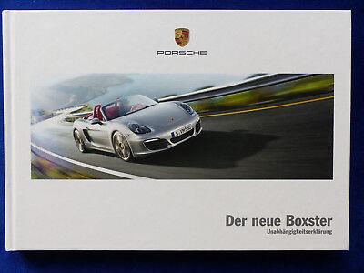 Porsche Boxster S - Typ 981 MJ 2012 - Hardcover Prospekt Brochure 11.2011