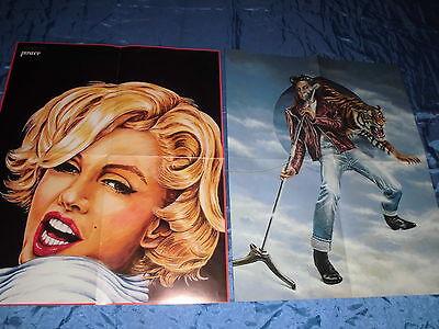Poster / Plakat , MARILYN  MONROE   und   ELVIS PRESLEY , TOP Dekoration  ()