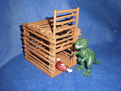 Playmobil Dinosaurier Baby Dino T-Rex mit Falle Käfig Schinken top unbespielt
