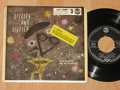"""7"""" EP - DIZZY GILLESPIE AND HIS ORCHESTRA - DIZZIER AND DIZZIER - 1957"""