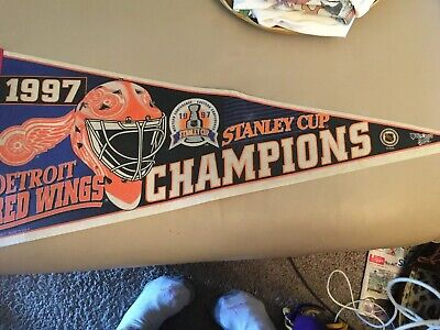 1997 Stanley Cup Champions Detroit Red Wings Pennant Flag