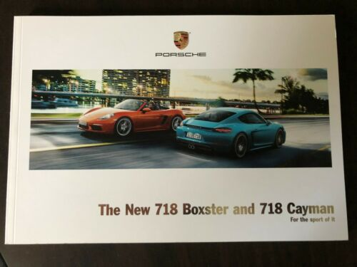 The New 718 Boxster and 718 Cayman Sales Brochure 2017