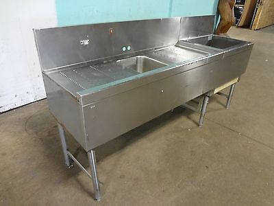 Perlick Commercial H.d.bar Station Wcold Plate Ice Binwash Sink Drain Board