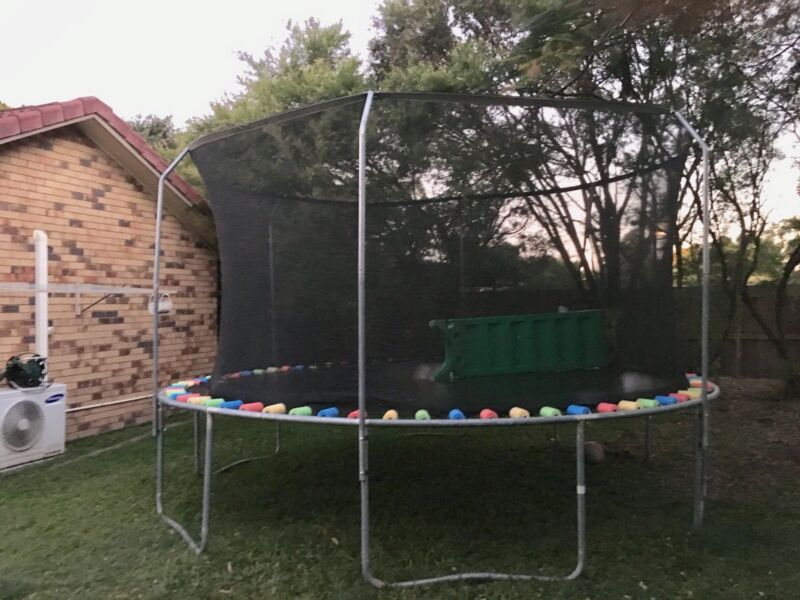 Trampoline With Net And Slide/stairs! | Toys   Outdoor | Gumtree ...