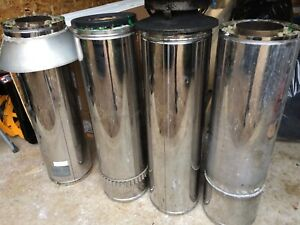 "6"" Stainless Steel Insulated Chimney Pipe-4 Pieces"