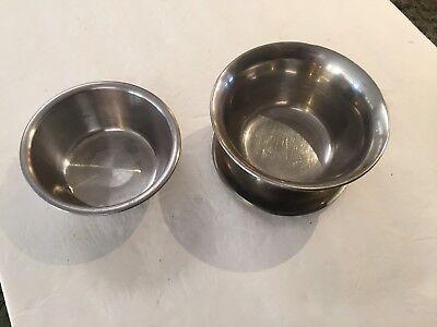 STAINLESS  SERVING BOWL DISH CHIP DIP SALSA SHRIMP Animals ~ Korea ~ set of 2