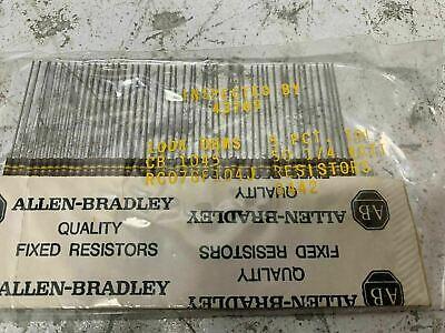 Lot Of 50 Rc07gf104j Allen-bradley 100k Ohm 14 Watt 5 Carbon Comp Resistor Nos