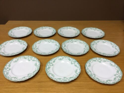 "11 Antique Alfred Meakin ""Greenville"" Royal Semi-Porcelain 7"" Plates"