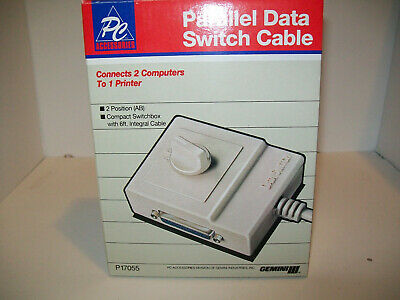 Computer PC Accessories parallel data switch cable connect 2 printers 1 computer Connect Computer Pc