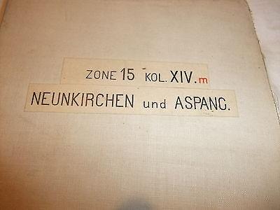 historische Landkarte Karte Neukirchen Aspang Zone 15 Kol. XIV Österreich Leinen