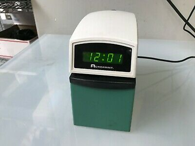 Acroprint Etc Validation Time Recorder Stamp Clock
