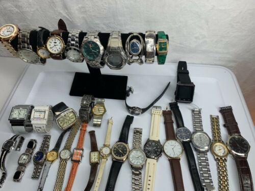 Lot of 33 Mixed Watches PART REPAIR RESELL Vintage & Modern Analog & Digital