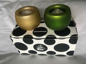 Pair of tea light candle holders from Bowring