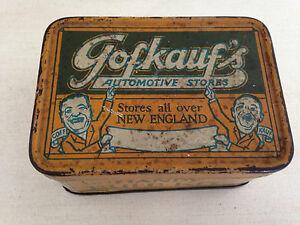Rare 1950s Gofkauf's automotive store Handy Bulb kit tin Oil can